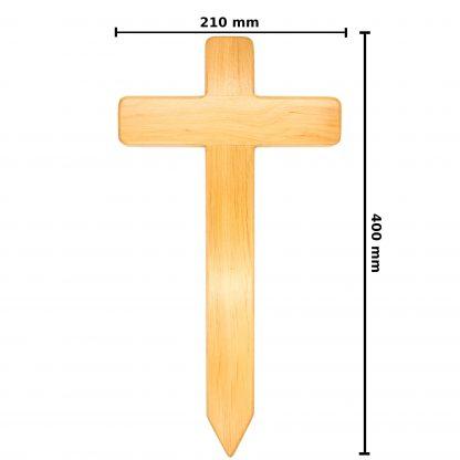 Maße des Holzkreuzes.