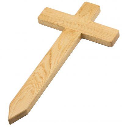 Hobicht Holzkreuz aus Eiche für das Grab.